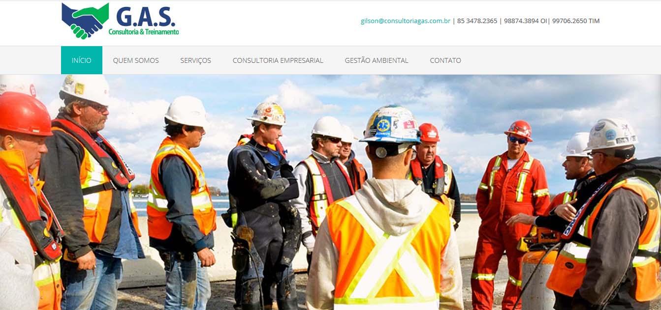 desenvolvimento e criação do website consultoriagas.com.br