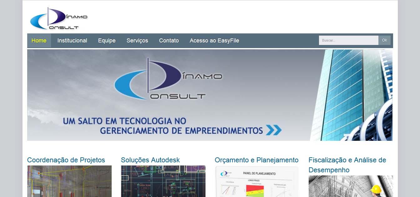 desenvolvimento e criação do website dinamoconsult.eng.br