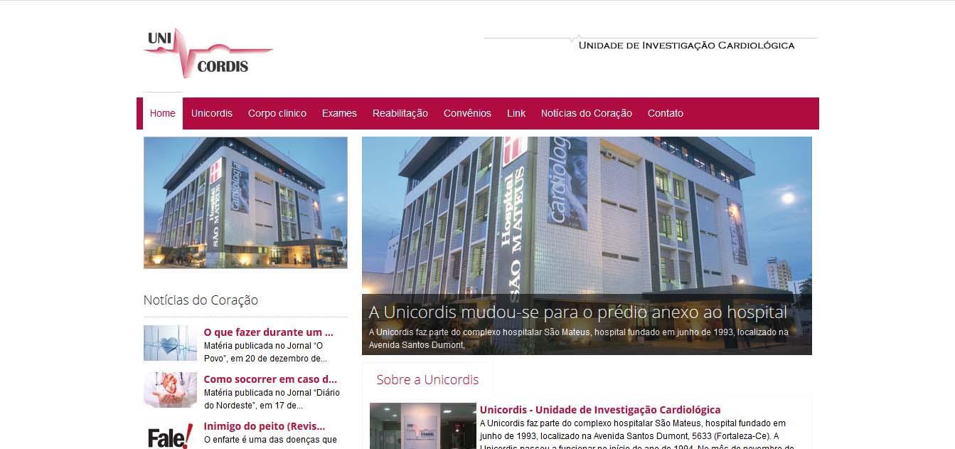 desenvolvimento e criação do website unicordis-saomateus.com.b