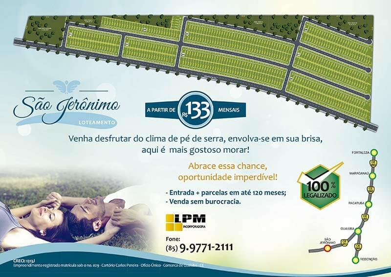 Folder Loteamento São Jerônimo 02