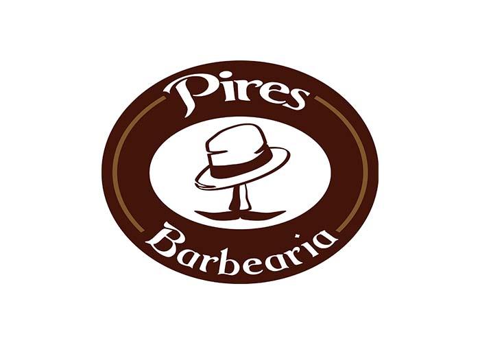 logomarca pires barbearia