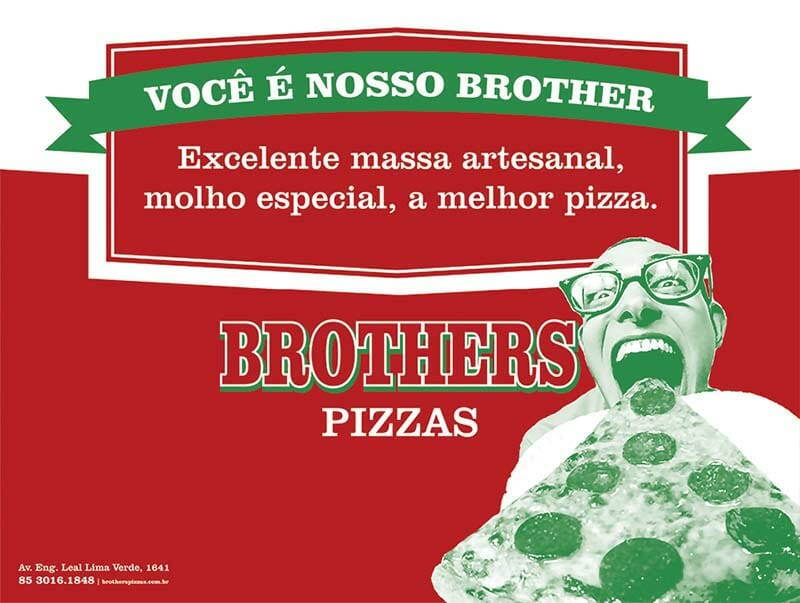 papel bandeja Brothers Pizzas